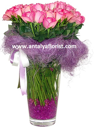 antalya flowers shop Vase 39 pc Pink Rose