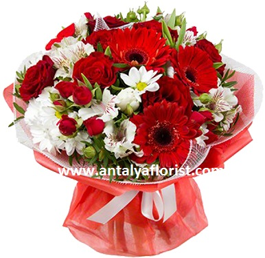 antalya flowers shop Gerbera Rose Bouquet